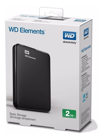 Disco Externo Portatil 2tb Usb 3.0 Western Digital Elements