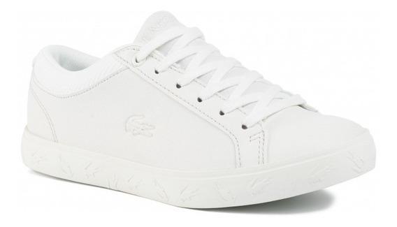 Zapatillas Lacoste Niños Straightset 319 Blanco 18c Rosa I20