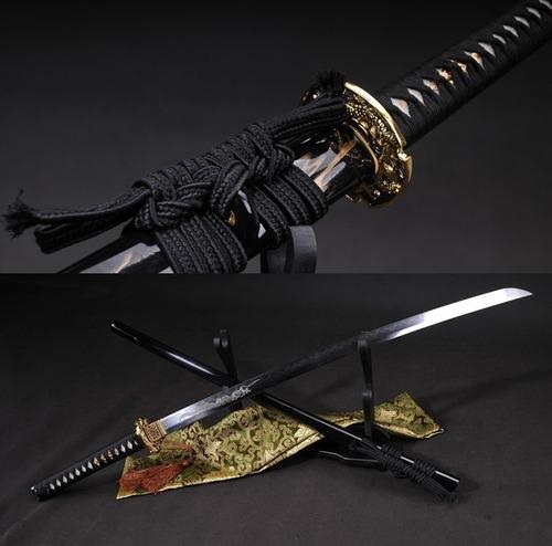Imagem 1 de 10 de Espada Katana Ryujin Forjada Aço Damasco Afiada Tradicional