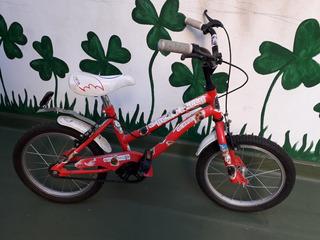 Bicicleta Bmx Niña Rodado 16 Con Rueditas