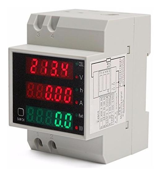 Medidor De Consumo Energia Kwh 110-220v 100a Trilho Din