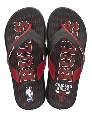 Chinelo Rider Nba Chicago Bulls(preto)
