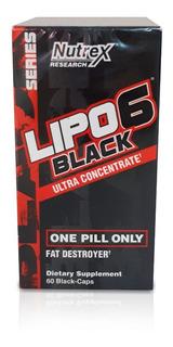 Lipo-6 Black Ultra Concentrado 60 Caps - Nutrex (importado)