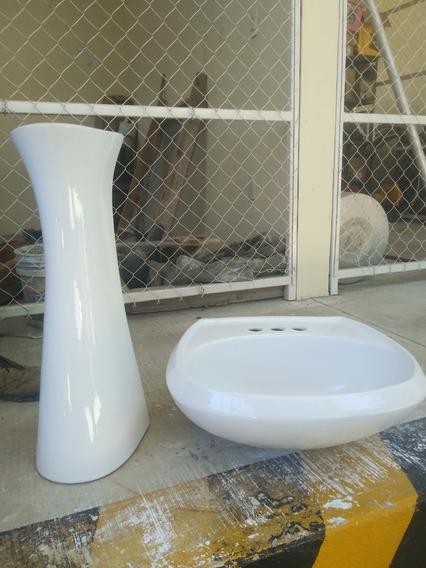 Lavabo Con Pedestal Color Blanco