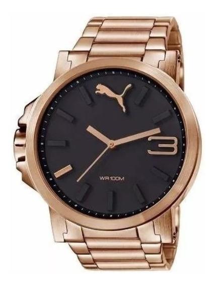 Relógio Puma Ultrasize Rosé Em Aço