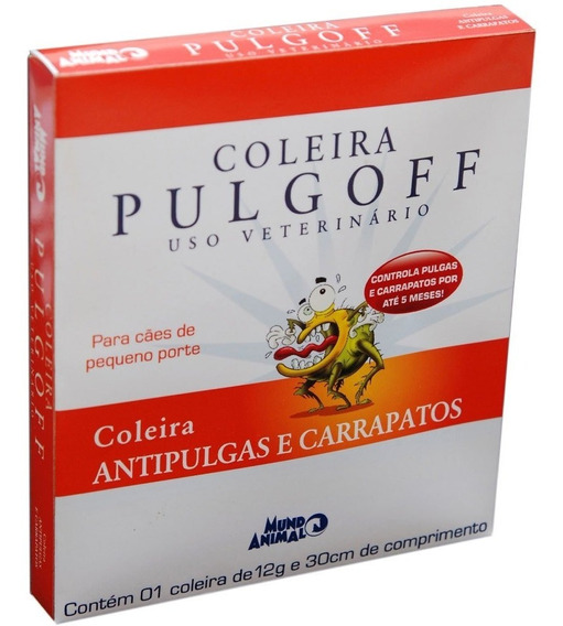 Coleira Antipulgas Mundo Animal Pulgoff Para Cães - Tam. P