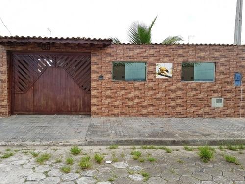 Casa Com 2 Dormitórios 400 Metros Da Praia Em Rua Calçada Em Itanhaém - 0096-cs