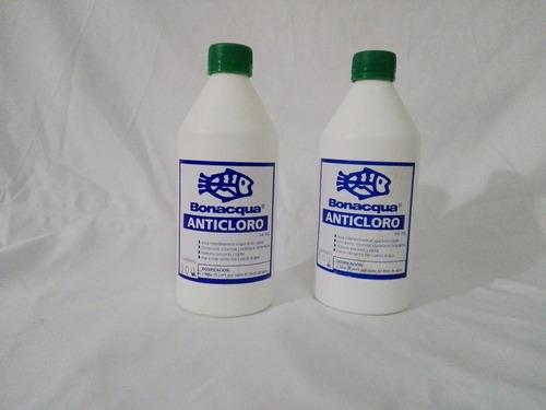 Anticloro Bonacqua 500 Ml Agua Pecera Acuario Peces