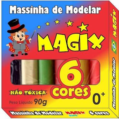 60 Massinha De Modelar,6 Cores Variadas,90 Gramas,promoção