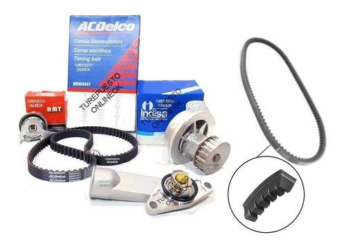 Kit Distribucion Termostato +correa En V Chevrolet Corsa 1.6
