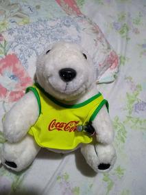 Urso Polar Pelucia Promoção Coca Cola Original Olimpico