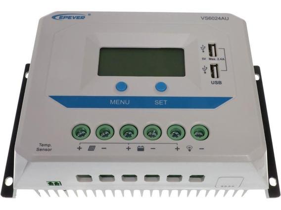 Controlador De Cargas Solar 60a Off Grid Pwm - Vs6024au