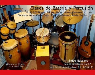 Clases De Batería Y Percusión En Zona Flores