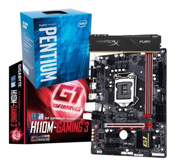 Kit Processador Pentium G4560 H110m Gaming 3 8gb Fury Hyperx