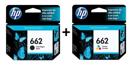 Imagen 1 de 7 de Pack Cartuchos Tinta 662 Negro + Tinta 662 Tricolor
