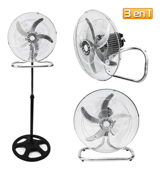 Ventilador 3 En 1 Pie Pared Industrial Aluminio 90w Turbo