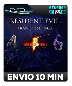 Resident Evil 4,5 E 6 - Franchise Pack - Psn Ps3 - Promoção