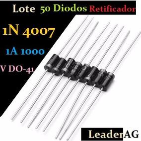 Lote 50 Diodos Retificador 1n4007 1amper 1000 Volts