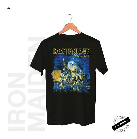 Camiseta Oficial Iron Maiden Live After Death Tour 2019