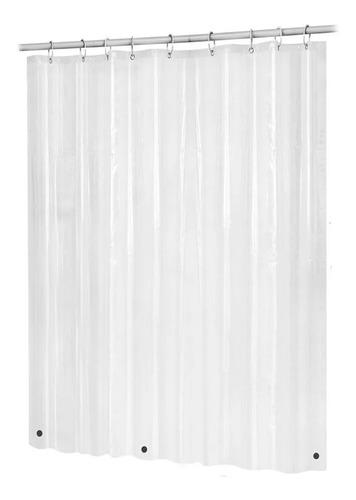 Imagen 1 de 3 de Forro Cortina Baño Transparente Con Iman 178 X 180 Cm