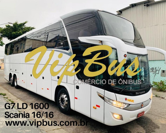 G7 Ld 2016/2016 Scania K360 Financiamos Vipbus