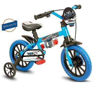 Bicicleta Infantil 3 A 5 Anos Aro 12 Menino Veloz Nathor