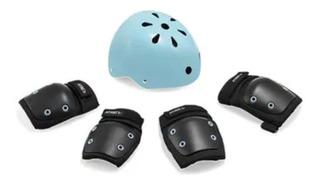Kit Proteção Infantil Capacete Cotoveleiras Joelheira G 7+az