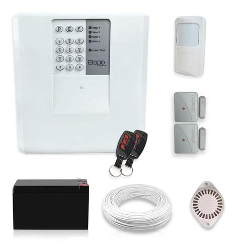 Imagem 1 de 5 de Kit Alarme Residencial Bopo 3 Sensor Sem Fio Bateria