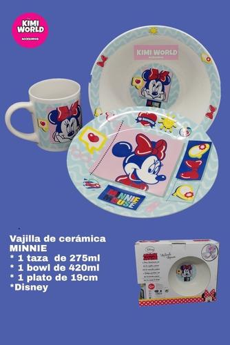 Imagen 1 de 1 de Set Vajilla Minnie, 3 Piezas, Original Disney
