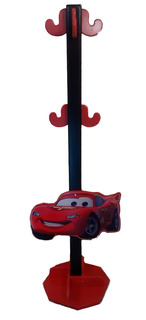 Perchero De Pie Infantil Cars Rayo Mcqueen Rojo Y Negro