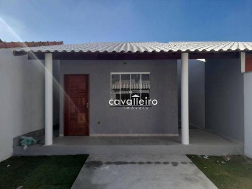 São José Do Imbassaí, Oportunidade, Casa Com 2 Dormitórios À Venda, 75 M² - Maricá/rj - Ca4791