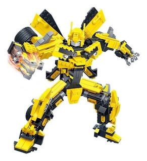 Bumblebee Transformers Bloques De Construccion Gudi
