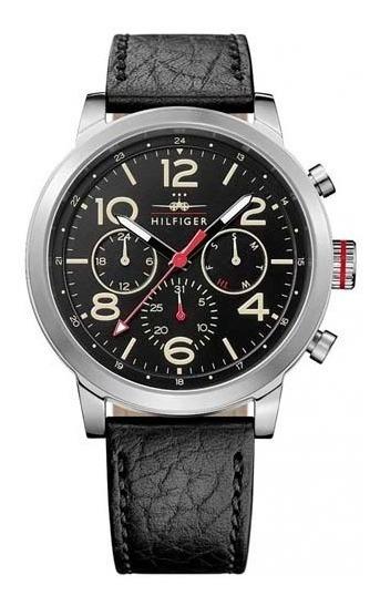 Relógio Tommy Hilfiger Masculino Em Couro Preto - 1791232