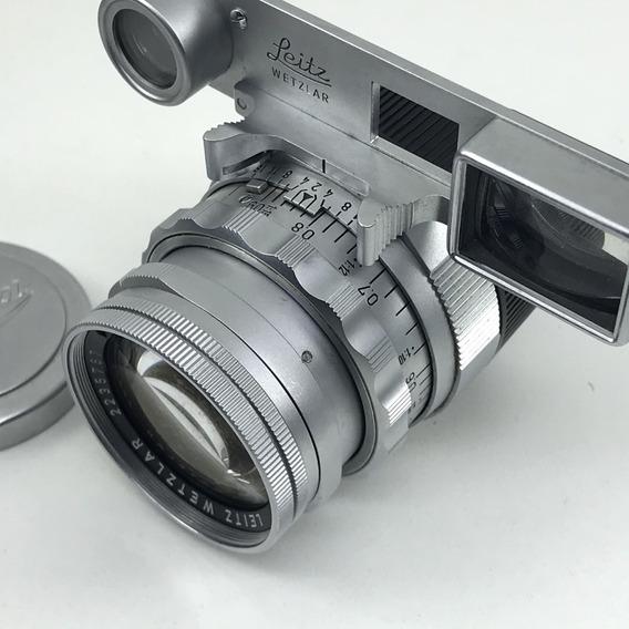 Lente Leica Summicron 50mm F/2 Wetzlar Com Oculos C/ Detalhe