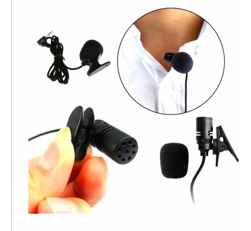 Micrófono Solapa Clip Jack 3.5mm 1.5mt Anti-ruido