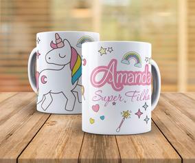 Caneca Personalizada Infantil Unicórnio Princesas Snoopy