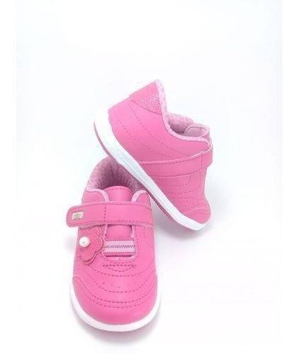 Tênis Infantil Kidy Tamanho 19 - Menina Pink - 20264