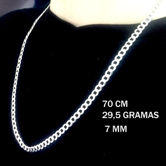 Corrente Cordão Prata 925 Italiana Masculina 29 G 70cm 7mm