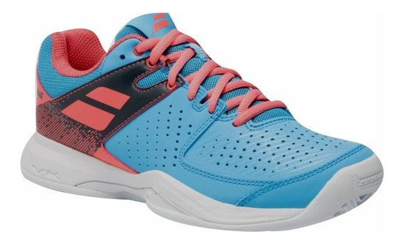 Tênis Babolat Pulsion Clay Women Blue Pink Novo