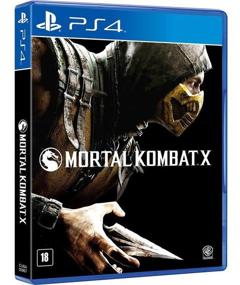 Jogo Mortal Kombat X Ps4 Disco Físico Original Português Br