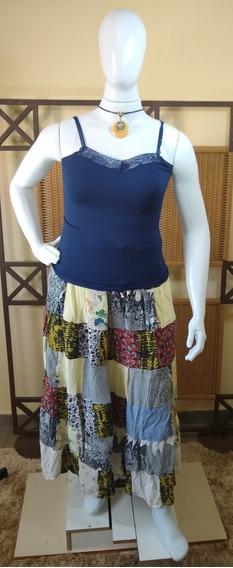 Saia Longa Patch Work/ Moda Indiana C15
