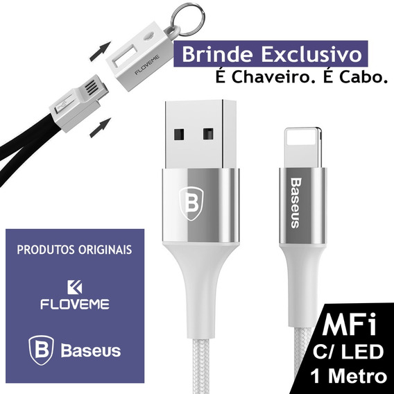 Cabo Mfi Original Baseus Lighting Para iPad Pro De 12,9 2ª G