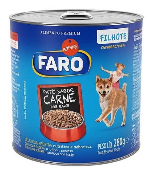 Ração Guabi Faro Lata Carne Para Cães Filhotes - 280 G
