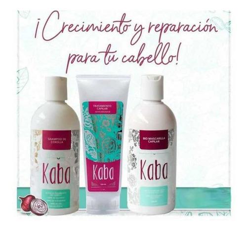 Imagen 1 de 8 de Kit Kaba Más Shampoo De Cebolla - mL a $80
