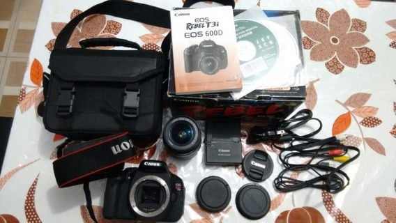 Camera Canon T3i Com Lente 18-55mm Com Bolsa Kit