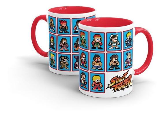 Caneca Cerâmica Street Fighter 8-bits - Beek