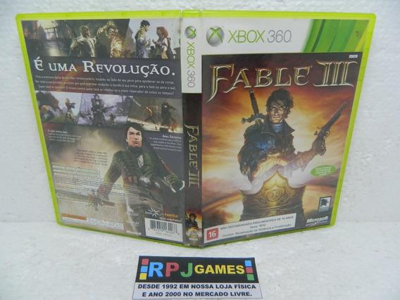 Fable 3 Original Midia Fisica Completa P/ Xbox 360 - Loja Rj