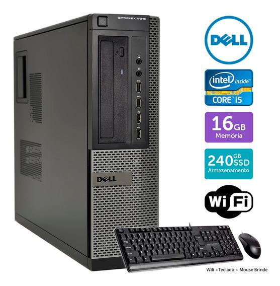 Desktop Usado Dell Optiplex 9010int I5 16gb Ssd240 Brinde
