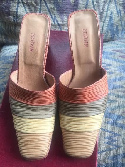 Zapato Prune Zueco 35 Mb Estado