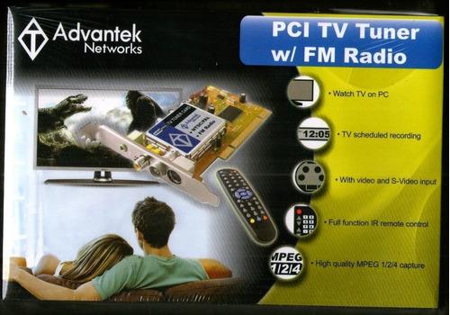Tarjeta Advantek Pci Tv Tuner Capturadora Video Radio Fm